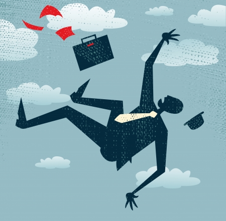 free fall: Abstract Businessman s career is in Free fall