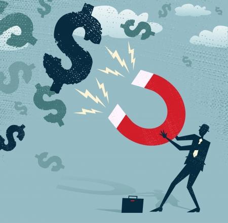 iman: Resumen Ejecutivo atrapa Dólares con imán de dinero