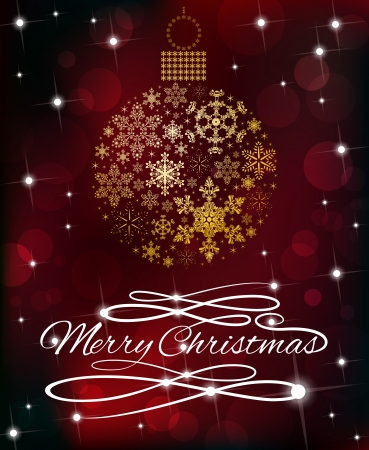 public celebratory event: Sparkle Snowflake Bauble and Swirl Merry Christmas  Beautiful Festive Pattern with Snowflake Bauble and Swirly Merry Christmas message