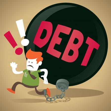 ligotage: Guy entreprise est enferm� dans une boule de la dette et de la cha�ne