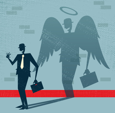 Abstract Businessman is Angel in Disguise  Vector