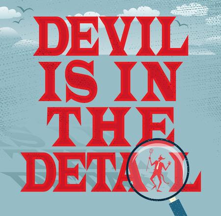 悪魔は細部の抽象的なビジネス シリーズに。  イラスト・ベクター素材
