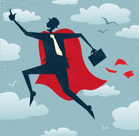 서사시: 추상 사업가 슈퍼 히어로입니다. 추상 사업가 자신의 초능력을 필요로하는 다른 비즈니스 거래를 구출에서 파리.