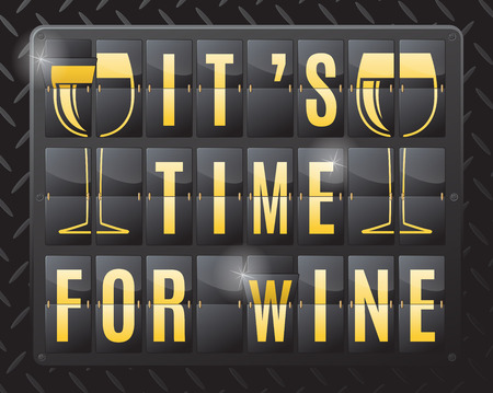 humor: This ultra dynamic 3D illustration of a flip countdown calendar is a great way to remind yourself that it is time to relax and have a nice glass of wine.