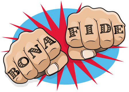 punching: Vintage Pop Art Bona Fide Punching Fists. Great illustration of pop Art comic book style punching directly at you with the classic hooligan tattoo message.