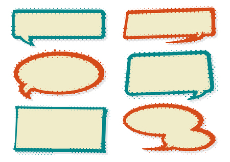 Collection of retro Styled Speech Bubbles and Elements.