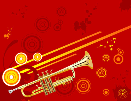 Vector trumpet image Illusztráció