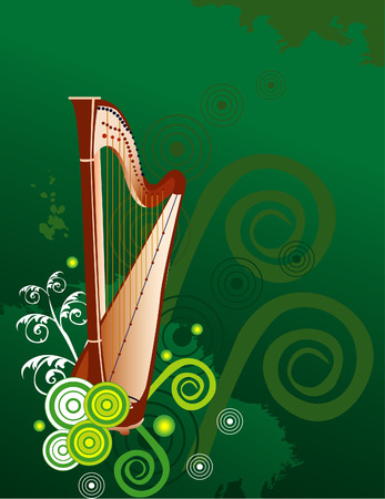 musical instrument vector harp