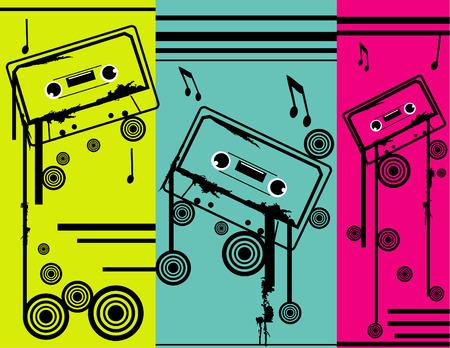 Cassette Tape Vector illustration 2d vector old Vettoriali