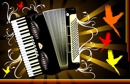 vettore strumento di composizione fisarmonica 2d parte musica