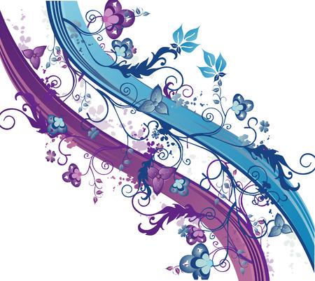 vector floral ilustración 2d composición arte abstracto