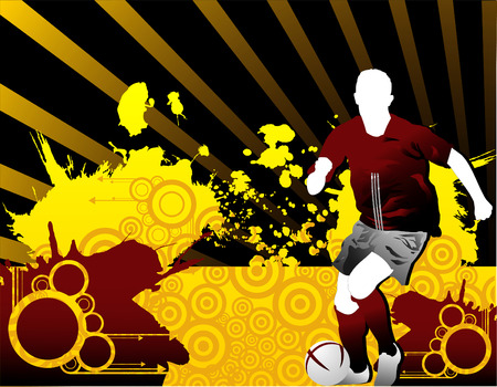 vector composition 2d sport succer cool art
