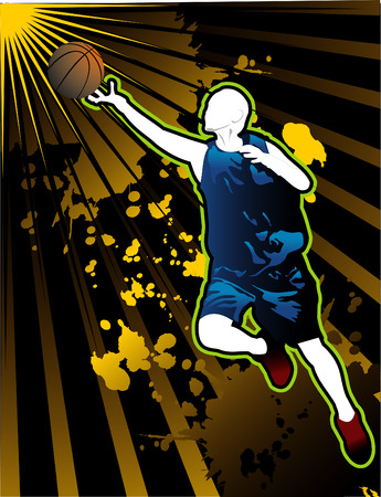 vector composition 2d sport basketball cool art Illusztráció