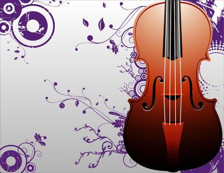 vector composition 2d violin musical cool art Stock Vector - 2982504