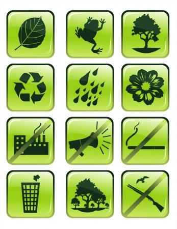 environment glossy vector icons