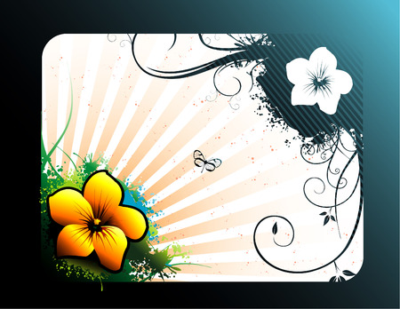 vector illustration of colorful flowers with beautiful background Stock Vector - 3408448