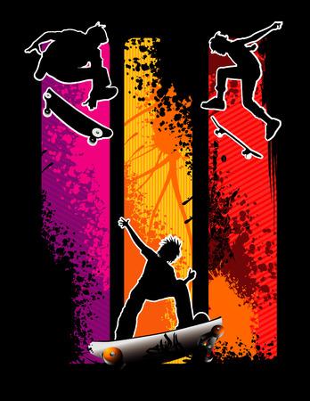 ilustración vectorial de enfriar y deportes extremos