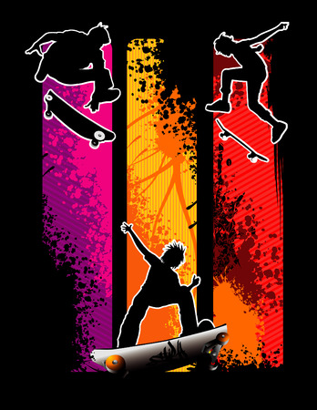 vector illustration of cool and extreme sports