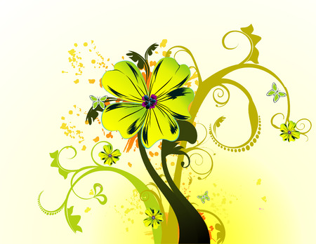vector illustration of colorful flowers and cool background Stock Vector - 3510007