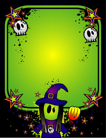 vector illustration for halloween characters and text input Stock Vector - 3691887