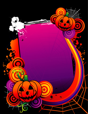 vector illustration for halloween text input and characters Stock Vector - 3691963