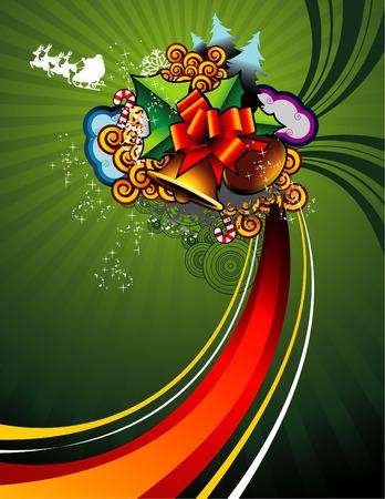 Vector illustratie van fantasie vormen voor kerstviering