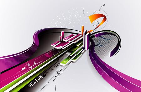 vector composition of fantasy shapes for internet and future uses Ilustração