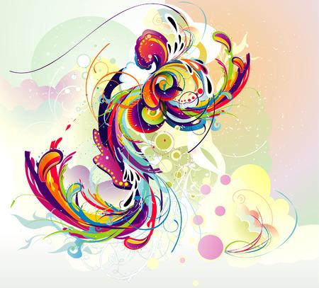 imagen vectorial 2D de formas de arco iris