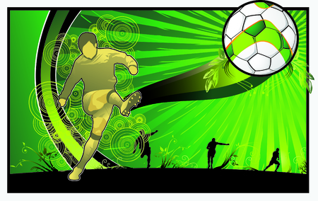 nice illustration of soccer theme