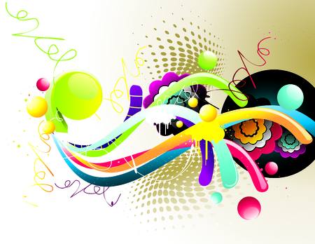 fantasy shapes and colors Stock Vector - 7361762