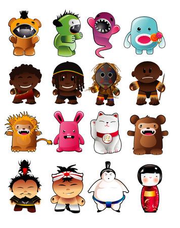 Cartoon-Figuren  Vektorgrafik