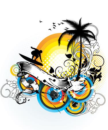 Ilustración de vector floral de verano