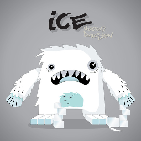 ice monster vector Illustration