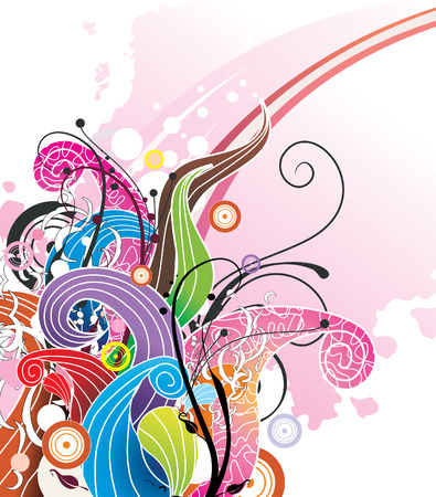 abstract curves vector illustration