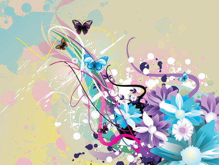 nature floral vector illustration Stock Vector - 8981505