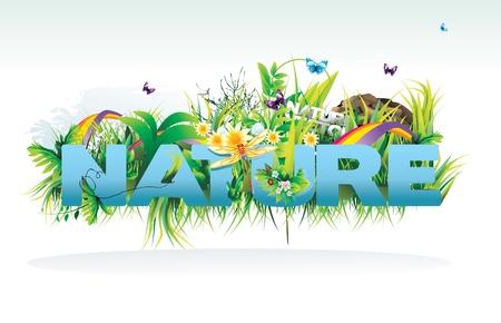 natuur vectorillustratie Vector Illustratie