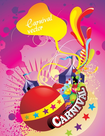 carnival circus abstract vector