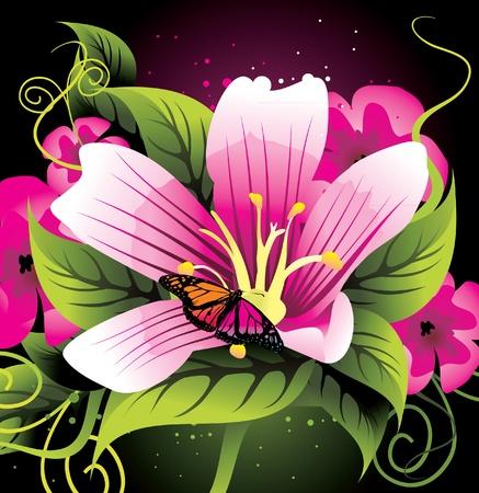 fiore di bellezza close up vector