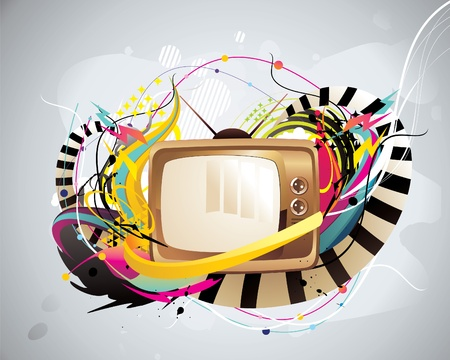 tv color vector illustration Illustration