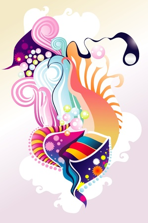 surreal abstract color art vector Stock Vector - 10745567