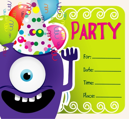 party vector invitation