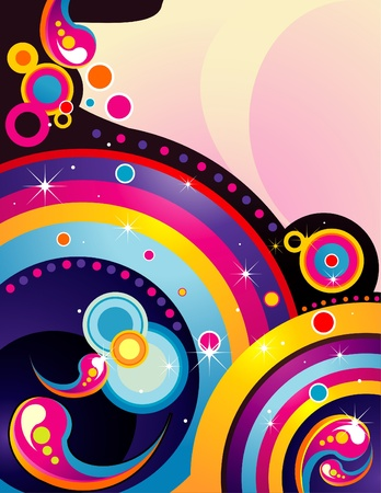 abstract rainbow color vector Illustration