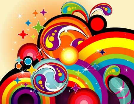 abstract rainbow color vector Ilustração