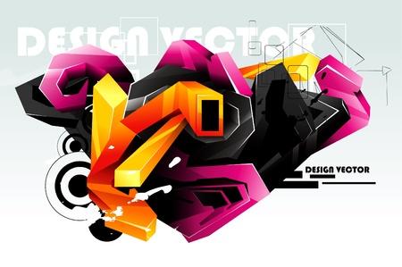modern graffiti Stock Vector - 12034950