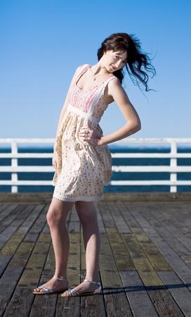 Sexy Fashion Model Striking A Pose At An Outdoor Fashion Shoot Stock Photo - 11584708