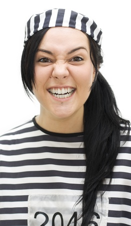 Comical Criminal Smiles In An All Teeth Cheeky Studio Portrait Stock Photo - 11584311
