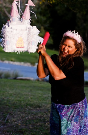 A Princess Smashes Up Her Pinata Castle In A Home Wreaking Rage photo