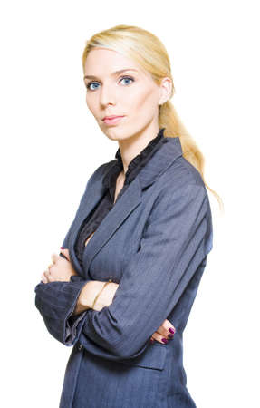 Attractive Career Smart Corporation Manager Standing With Arms Folded In Successful And Self Assured Style In A Confident Business Person Portrait Stock Photo - 13149565