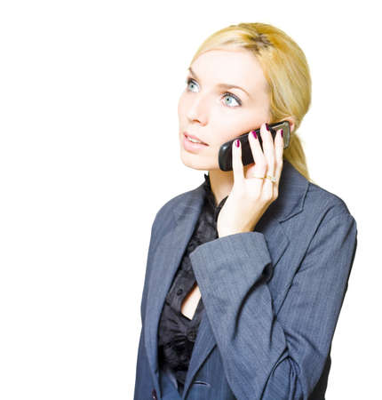 Modern And Fresh Portrait Of An Attractive Business Woman Holding A Corporate Conversation On Her Company Mobile Phone In A Confident Display Of Negotiation photo