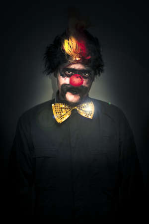 Portrait Of A Deranged Dark And Foreboding Clown Stock Photo - 13177546